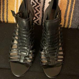 Hinge heeled sandals size 8